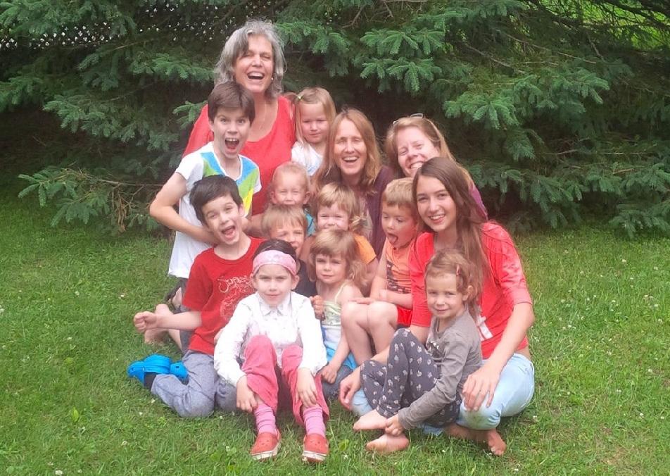 Les enfants de l'École de vie consciente (été 2017)