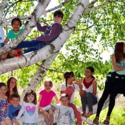 Les jeunes du centre d'apprentissage libre Le chemin de l'éveil